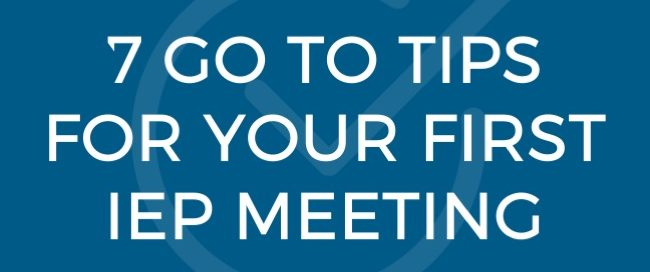 Go To Tips for First IEP Meeting