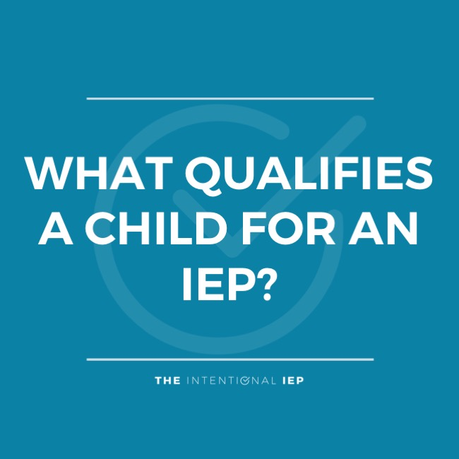 WHAT QUALIFIES A CHILD FOR AN IEP